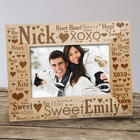 Couple's Love Word-Art Picture Frame