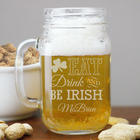 Engraved Irish Mason Jar