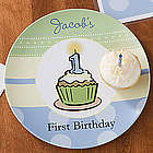Boy's First Birthday Personalized Baby Plate