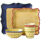 Pistoulet 16 Piece Square Dinnerware Set