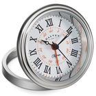 Clipper Travel Alarm Clock in White and Orange