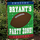 Football Party Zone Personalized Garden Flag
