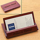 Arched Rosewood Folding Business Card Holder