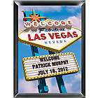 Personalized Vegas Traditional Sign Framed Print