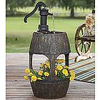 Barrel Fountain and Planter