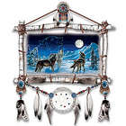 Wolf Art Dreamcatcher Wall Plaque
