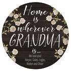 Personalized Home is Love Circle Wood Plaque