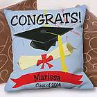 Personalized Graduation Congrats Throw Pillow