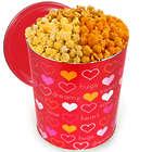 For My Valentine Traditional Mix 3.5 Gallon Popcorn Tin