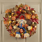 Light Up Scarecrow Welcome Wreath