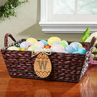 Personalized Easter Egg Monogram Wicker Basket