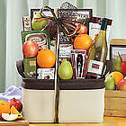 Bricklane Chardonnay, Fruit and Favorites Gift Basket