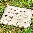 Paw Prints Garden Plaque