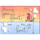 You Float My Boat Personalized Cutout Hearts Greeting Card
