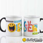 Personalized Smiley Face Easter Coffee Mug