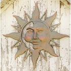 Mysterious Sun Face Metal Wall Art