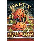 Halloween Steps Garden Flag