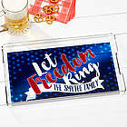 Personalized American Land Of The Free Acrylic Serving Tray
