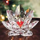 Crystal Lotus Tealight Candle Holder