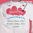 Our Hearts Personalized Sweatshirt