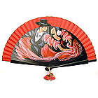 Traditional Handpainted Flamenco Dancers Hand Fan