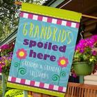 Grandchildren Spoiled Here Personalized House Flag