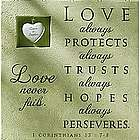 Personalized Love Never Fails Plaque