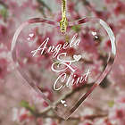 Engraved Couples Heart Suncatcher