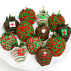 Gourmet Christmas Chocolate Covered Strawberries