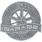 Personalized Racing Wheel Aluminum Garage Plaque