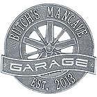 Personalized Racing Wheel Aluminum Garage Plaque