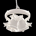 Personalized Silver Christmas Bells Ornament