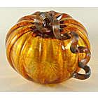 Harvest Glass Pumpkin