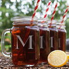 4 Personalized Initial Mason Jars