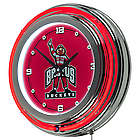 "14"" Ohio State University Brutus Buckeye Neon Clock"