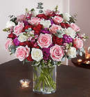Victorian Romance Large Pink and White Bouquet