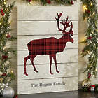 Cozy Cabin Deer Personalized 16x20 Wooden Shiplap Sign