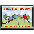Personalized Choo Choo Room Sign for Boys