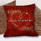 Personalized The One My Soul Loves Throw Pillow