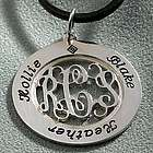 Personalized Mother's Sterling Silver Pendant