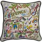 Hand Embroidered Palm Springs Pillow