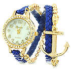 Navy and Gold CZ Anchor Watch