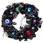 Lighted Eyeball Halloween Wreath