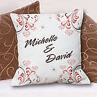Personalized Couple's Names Throw Pillow