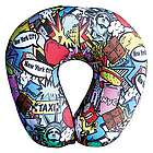 NYC Pop Art Travel Pillow
