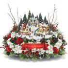 Thomas Kinkade Floral Centerpiece
