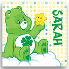 Kid's Personalized Care Bears Good Luck Canvas Wall Art