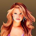 Jessica Simpson Oil Painting Giclee