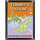 Personalized Dinosaur Room Sign for Boys