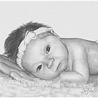 Detailed Hand Drawn Pencil Sketch Based on Your Baby's Photo